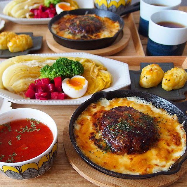 夕飯メインおかずレシピ:ハンバーグドリア