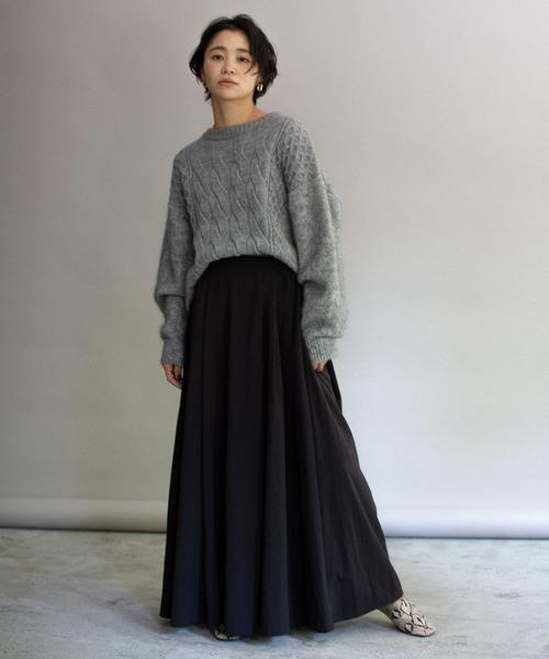 冬のニットコーデ スカートスタイル