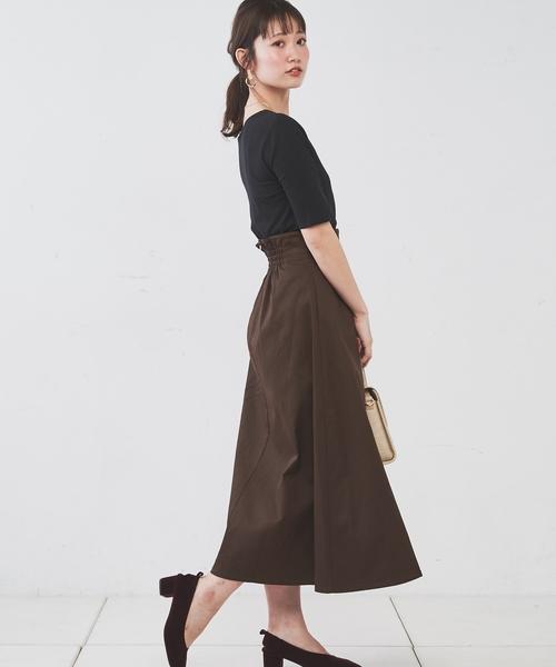 [natural couture] Dカンフレア巻きスカート