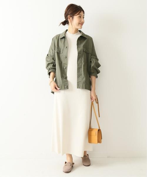 [Spick & Span] オーバーサイズミリタリーシャツジャケット2◆