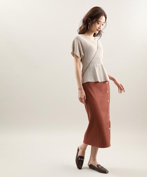 [ViS] 釦デザインテレコスカート