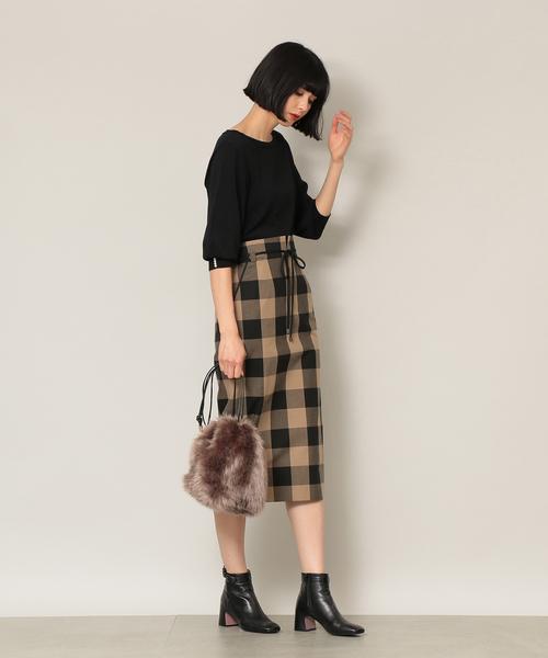[EPOCA THE SHOP] 【EPOCA THE SHOP】チェックタイトスカート