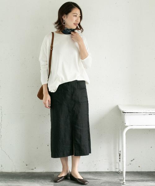 [URBAN RESEARCH ROSSO WOMEN] スリットリネンタイトスカート