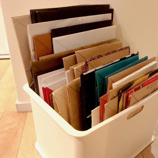 探しやすい紙袋収納