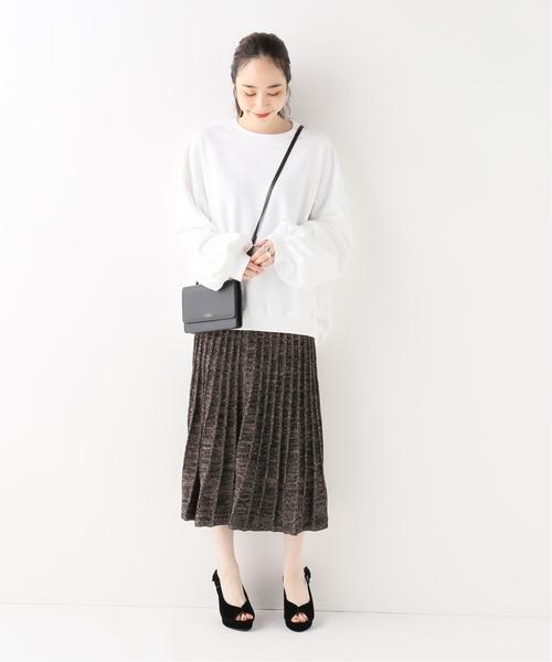 [IENA] MARILYN MOON ニットラメ プリーツスカート◆