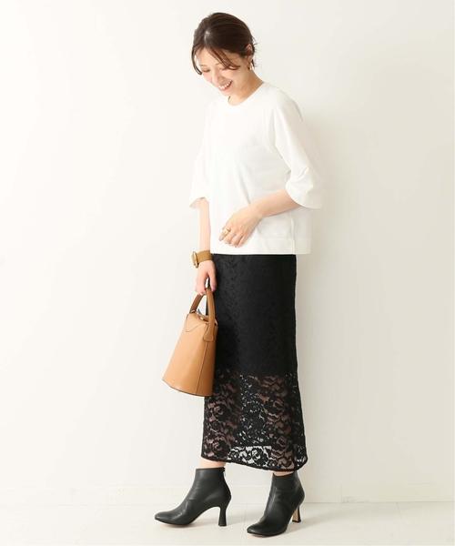 [Spick & Span] コードレースタイトスカート