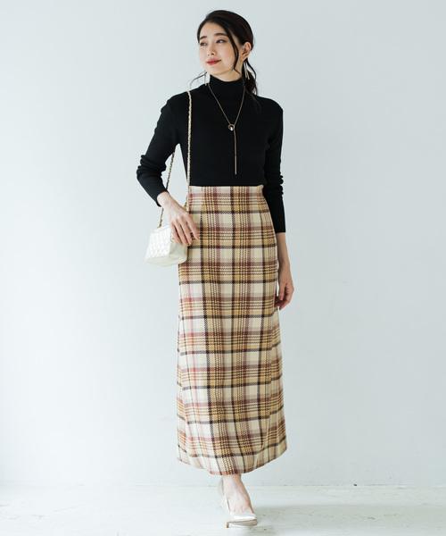 [Loungedress] セミフレアマキシスカート