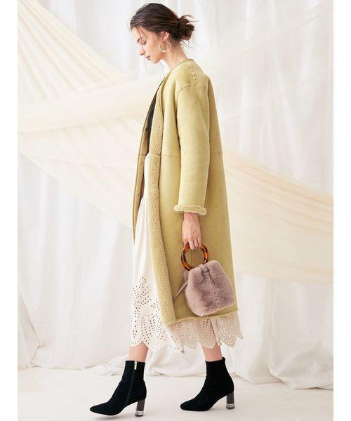 冬のデートコーデ スカートスタイル