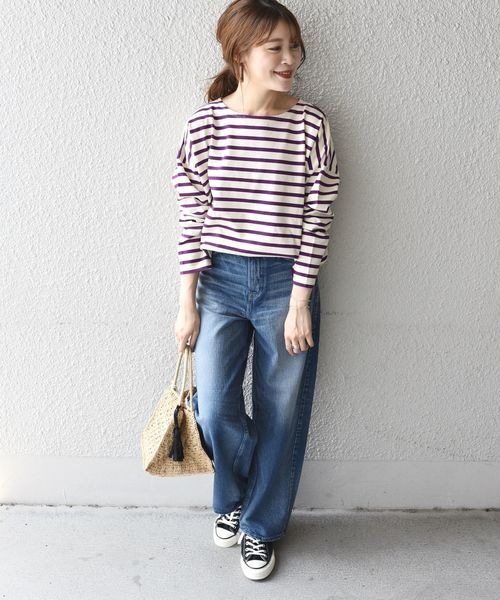 [SHIPS for women] SHIPS Days STANDARD:バスクボーダー 19FW◇