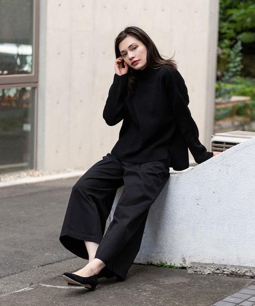 [ROOP TOKYO] Vincent et Mireille/バンソンエミレイユ HIGH NECK SWEATER 8GG AZE