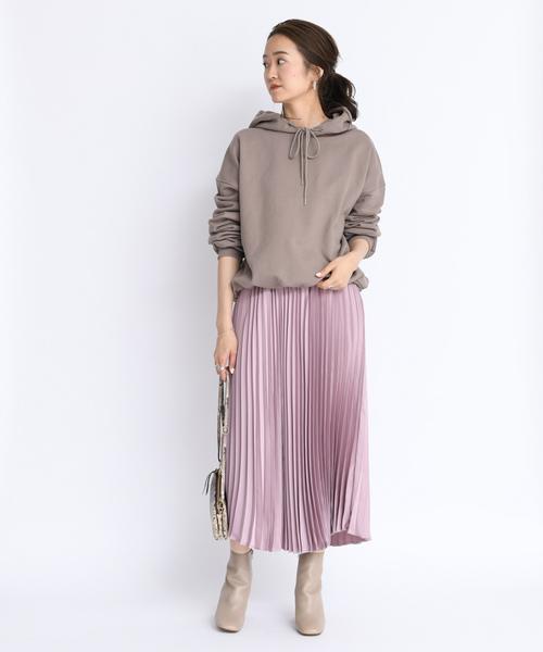[DouDou] プリーツサテンスカート