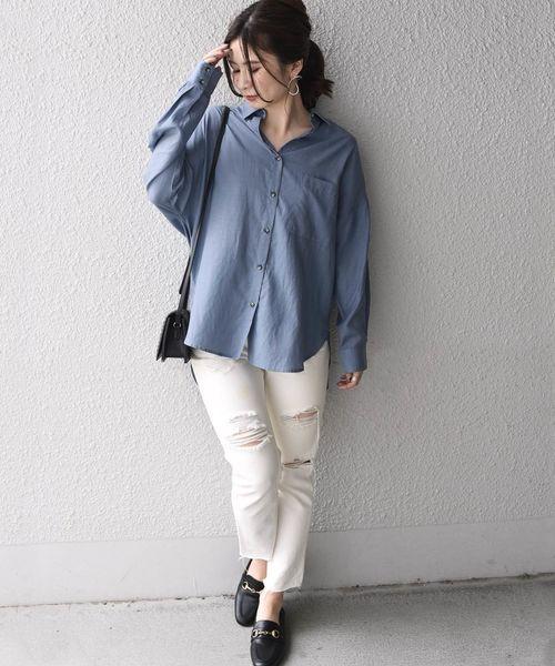 [SHIPS for women] Khaju:オーバーサイズシャツ