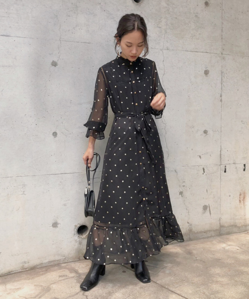 [Ameri VINTAGE] SPARKLE DOT DRESS