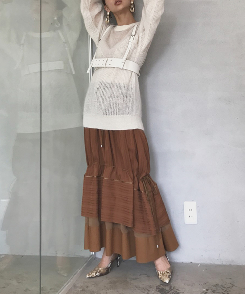 [Ameri VINTAGE] 2WAY DRAWSTRING SKIRT
