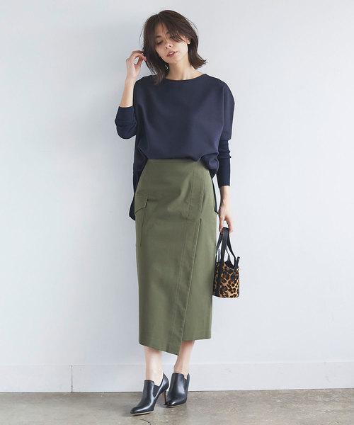 [GALLARDAGALANTE] コットンポケットタイトスカート