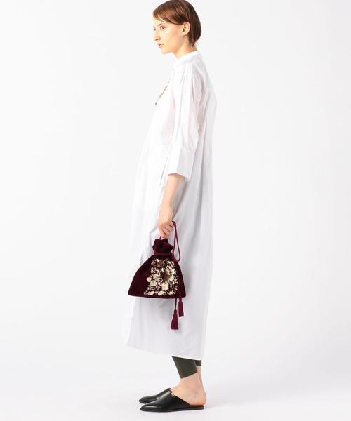 [TOMORROWLAND] ne Quittez pas ベロアスパンコール 巾着バッグ