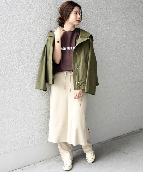 [SHIPS for women] Khaju:ニットスカート×パンツ◆2