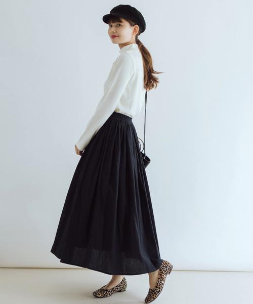 [itowa tokyo&wordtrobe] 【wordtrobe】ブラッシングシーチングギャザースカート
