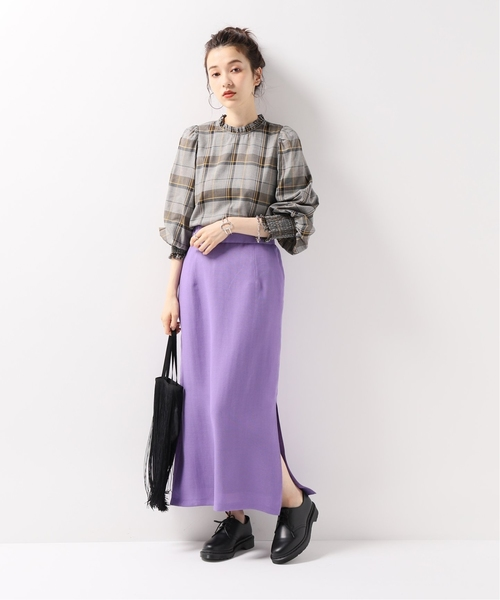 [JOURNAL STANDARD] 【NEU】VISメッシュ サイドスリットスカート