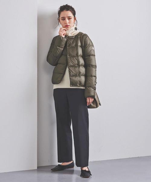 ダウンのきれいめ冬ファッション