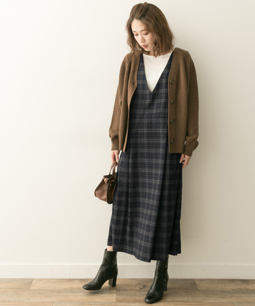 [URBAN RESEARCH ROSSO WOMEN] F by ROSSO チェックジャンパースカート