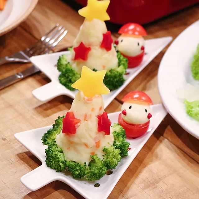クリスマスパーティーぴったり!ポテサラツリー