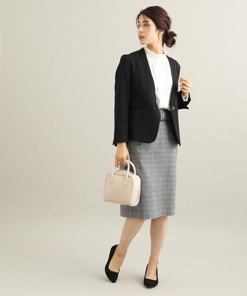 [ViS] 【EASY CARE】【着丈が選べる】先染めチェック柄タイトスカート