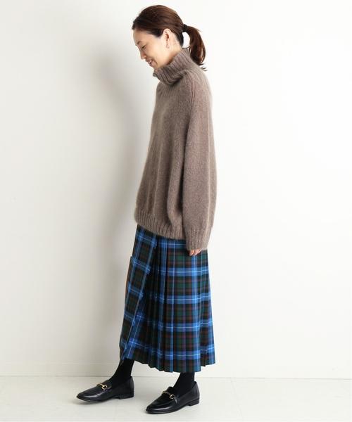 [IENA] GLEN FYNE×SLOBE別注 プリーツスカート◆