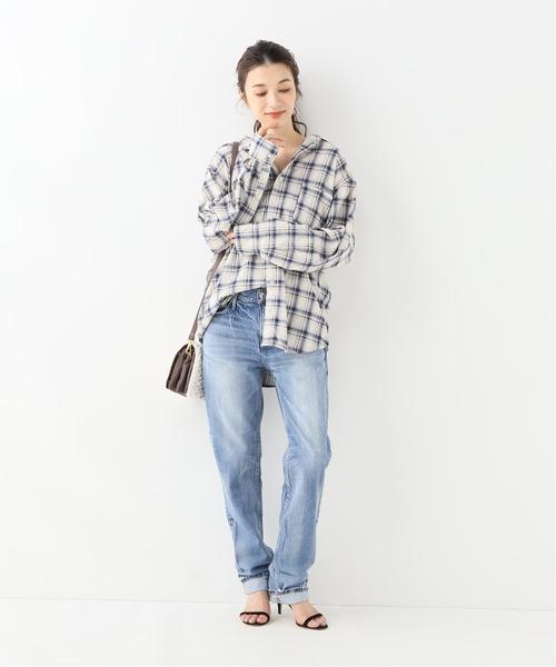 [Spick & Span] 【CP SHADES】 コールチェックボーイフレンドシャツ◆