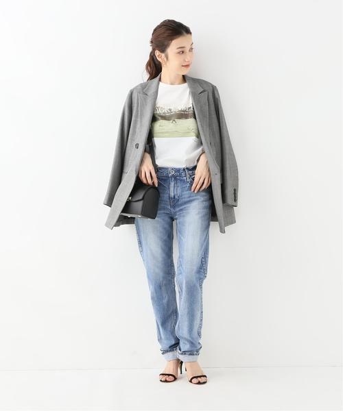 [Spick & Span] 【+81BRANCA】フォトTシャツ(L/S)◆