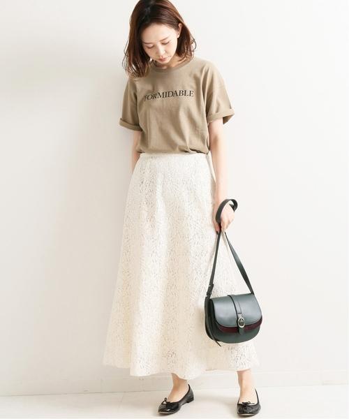 [IENA] ロゴプリントTシャツ◆