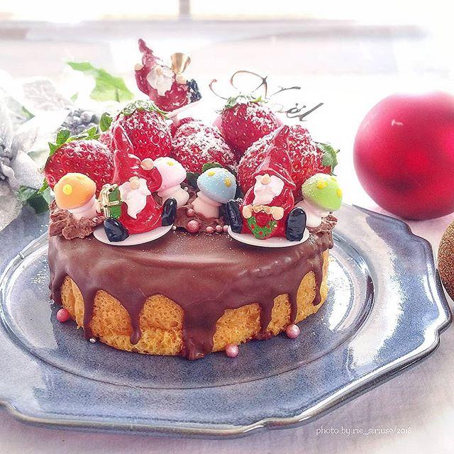 たっぷりいちごの甘さ控えめクリスマスケーキ