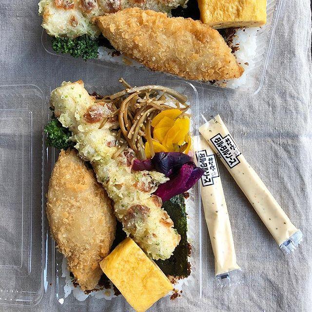大胆に!カリカリちくわの天ぷら弁当