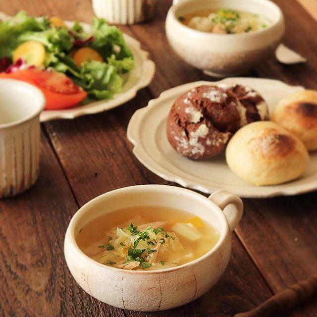 ⑪簡単スープ:キャベツとツナのスープ