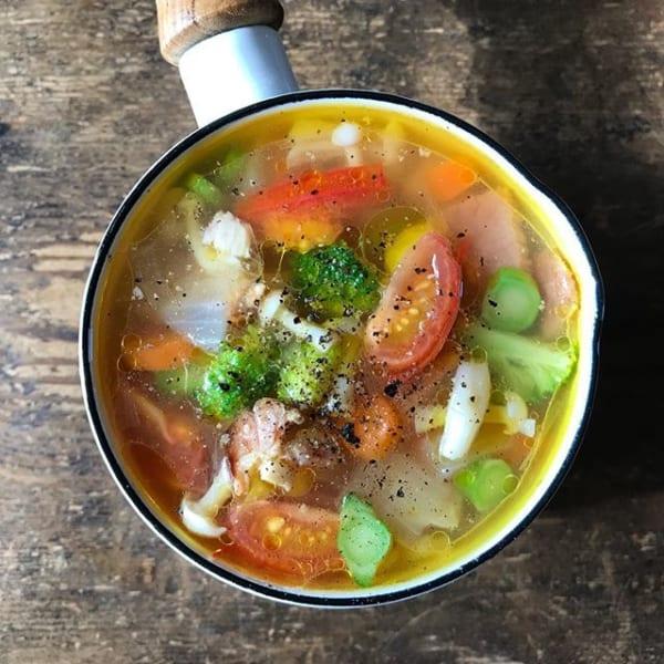⑫スープレシピ:栄養たっぷり野菜スープ