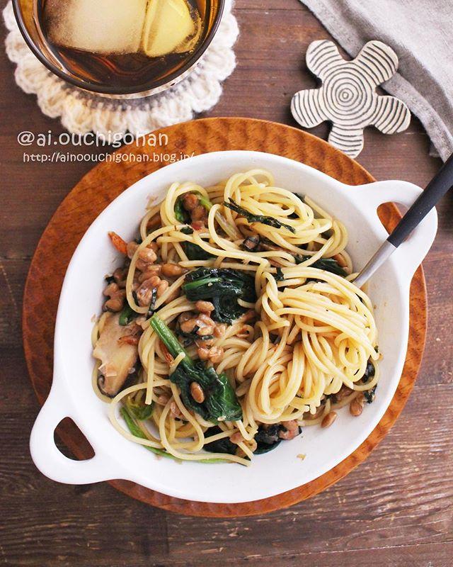 人気で簡単に作れる!納豆と野菜の和風パスタ