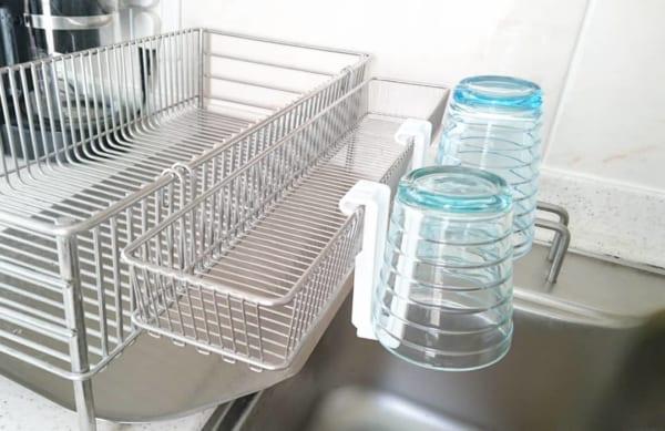 2無くなりやすい小さなパーツは小物用水切りを活用
