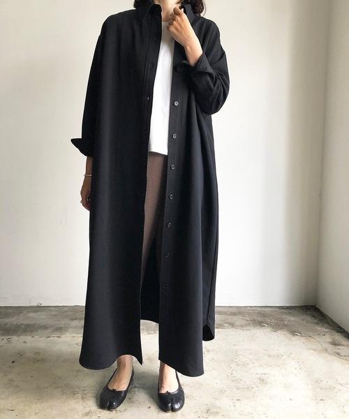 黒ハンサムワンピース×きれいめパンツ