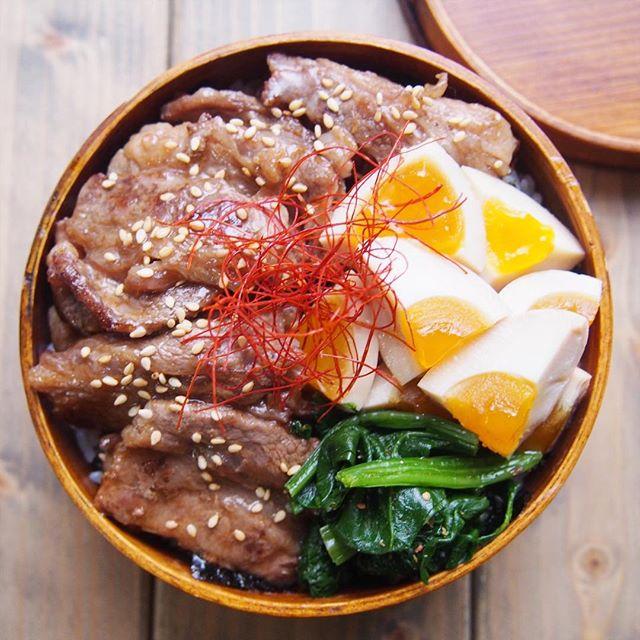 牛肉 お弁当レシピ 丼物2