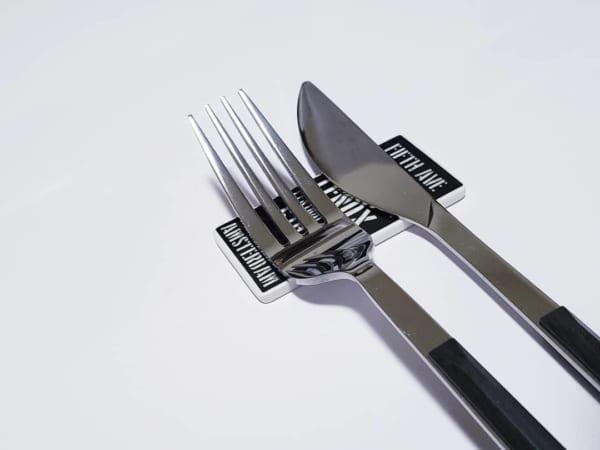バスサインデザイン箸置きのカトラリーレスト【セリア】