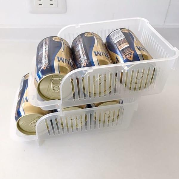冷蔵庫内のビールの定位置