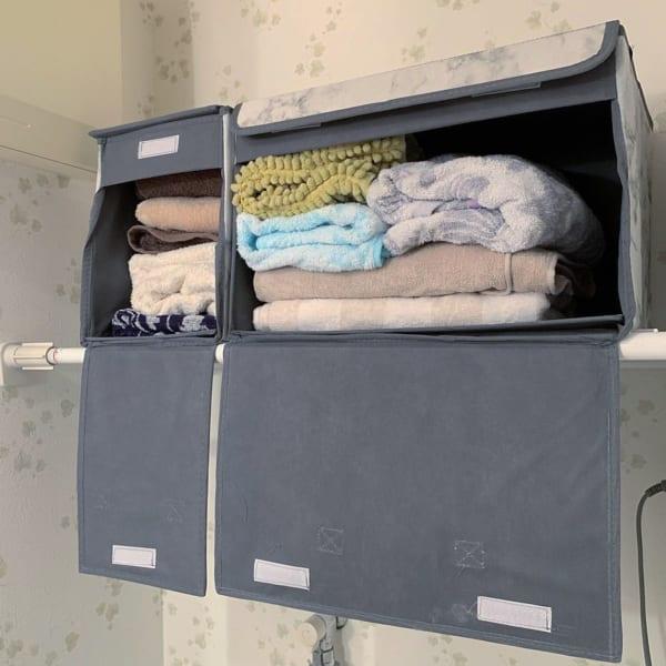 フタ付き前開きワイドBOX・フタ付きワイド収納BOX【3COINS】