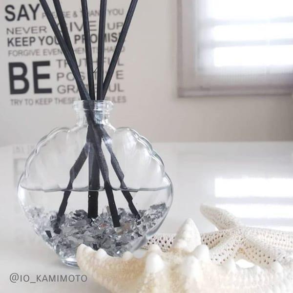 シェル型ガラスボトル(セリア)