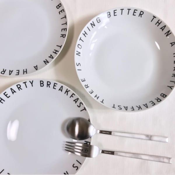 レタリングプレート&スープ皿