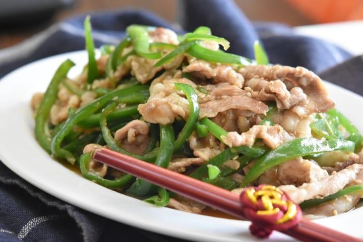 豚こま切れ肉 ピーマン 甘辛炒め8