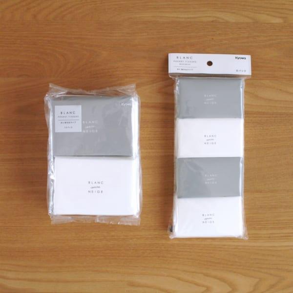 シンプルなパッケージが魅力的で、種類も豊富なティッシュ!