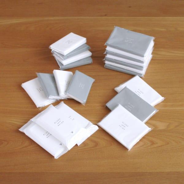 シンプルなパッケージが魅力的で、種類も豊富なティッシュ!3