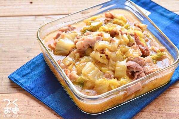トロトロ白菜と豚バラ肉のうま煮弁当
