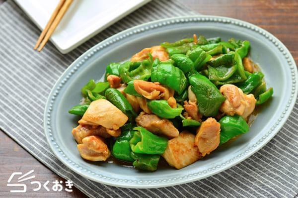 鶏肉とピーマンのオイマヨ炒め