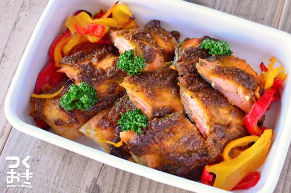 美味しい料理!鮭のカレーセサミマヨ